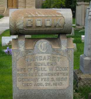 SCHLEHR COOK, MARGARET - Lorain County, Ohio   MARGARET SCHLEHR COOK - Ohio Gravestone Photos