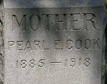 COOK, PEARL E. - Lorain County, Ohio   PEARL E. COOK - Ohio Gravestone Photos