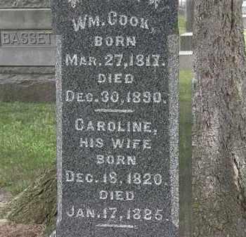COOK, WM. - Lorain County, Ohio   WM. COOK - Ohio Gravestone Photos