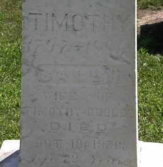 COOLEY, TIMOTHY - Lorain County, Ohio | TIMOTHY COOLEY - Ohio Gravestone Photos