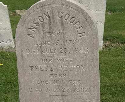 PELTON COOPER, PHEBE - Lorain County, Ohio | PHEBE PELTON COOPER - Ohio Gravestone Photos