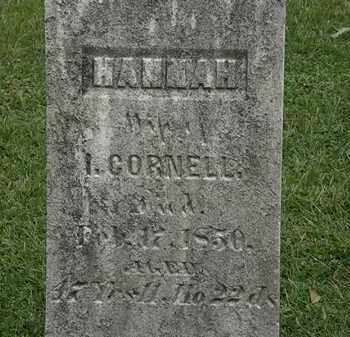 CORNELL, HANNAH - Lorain County, Ohio   HANNAH CORNELL - Ohio Gravestone Photos