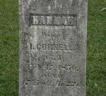 CORNELL, I. - Lorain County, Ohio | I. CORNELL - Ohio Gravestone Photos