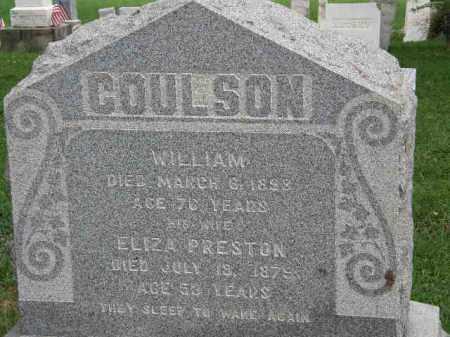 COULSON, WILLIAM - Lorain County, Ohio | WILLIAM COULSON - Ohio Gravestone Photos