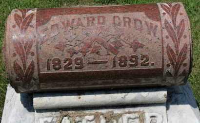 CROW, EDWARD - Lorain County, Ohio | EDWARD CROW - Ohio Gravestone Photos