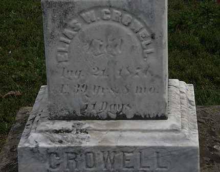 CROWELL, ELIAS W. - Lorain County, Ohio   ELIAS W. CROWELL - Ohio Gravestone Photos