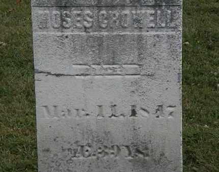 CROWELL, MOSES - Lorain County, Ohio | MOSES CROWELL - Ohio Gravestone Photos