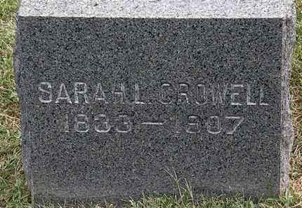 CROWELL, SARAH L. - Lorain County, Ohio | SARAH L. CROWELL - Ohio Gravestone Photos