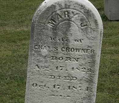 CROWNER, MARY J. - Lorain County, Ohio | MARY J. CROWNER - Ohio Gravestone Photos