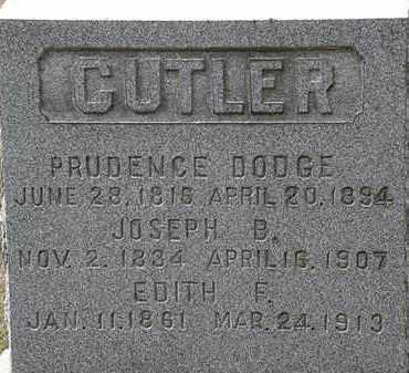 CUTLER, PRUDENCE - Lorain County, Ohio | PRUDENCE CUTLER - Ohio Gravestone Photos