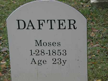 DAFTER, MOSES - Lorain County, Ohio | MOSES DAFTER - Ohio Gravestone Photos