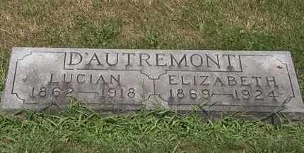 D'AUTREMONT, ELIZABETH - Lorain County, Ohio | ELIZABETH D'AUTREMONT - Ohio Gravestone Photos