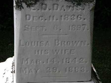 DAVIS, LOUISA - Lorain County, Ohio | LOUISA DAVIS - Ohio Gravestone Photos