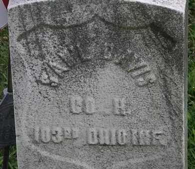 DAVIS, SAM'L - Lorain County, Ohio   SAM'L DAVIS - Ohio Gravestone Photos