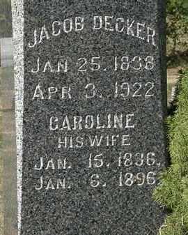 DECKER, CAROLINE - Lorain County, Ohio | CAROLINE DECKER - Ohio Gravestone Photos