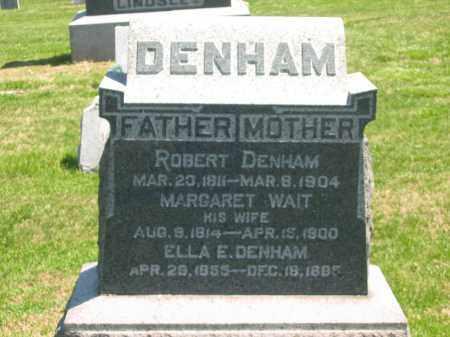DENHAM, MARGARET - Lorain County, Ohio | MARGARET DENHAM - Ohio Gravestone Photos