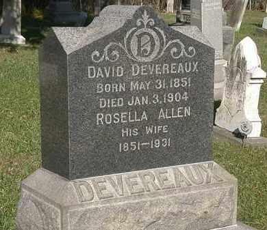 DEVEREAUX, ROSELLA - Lorain County, Ohio | ROSELLA DEVEREAUX - Ohio Gravestone Photos