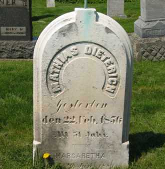 DIETERICH, MATHAIS - Lorain County, Ohio | MATHAIS DIETERICH - Ohio Gravestone Photos