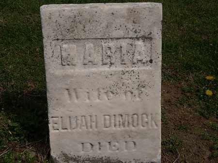 DIMOCK, MARIA - Lorain County, Ohio | MARIA DIMOCK - Ohio Gravestone Photos