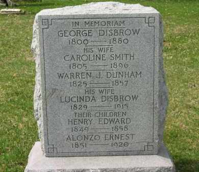 SMITH DISBROW, CAROLINE - Lorain County, Ohio | CAROLINE SMITH DISBROW - Ohio Gravestone Photos
