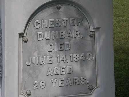 DUNBAR, CHESTER - Lorain County, Ohio | CHESTER DUNBAR - Ohio Gravestone Photos