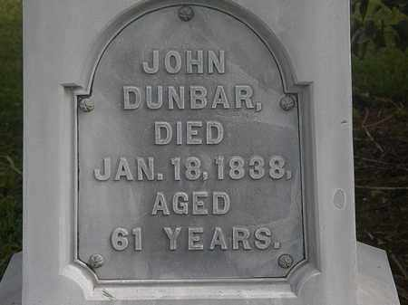 DUNBAR, JOHN - Lorain County, Ohio | JOHN DUNBAR - Ohio Gravestone Photos