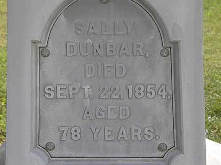 DUNBAR, SALLY - Lorain County, Ohio | SALLY DUNBAR - Ohio Gravestone Photos