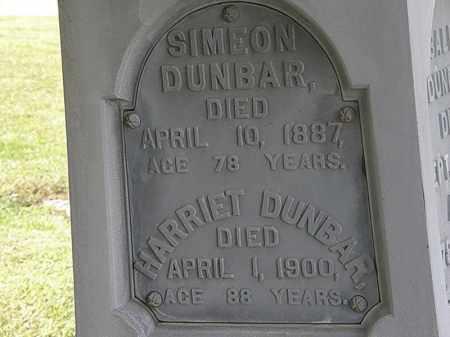 DUNBAR, SIMEON - Lorain County, Ohio   SIMEON DUNBAR - Ohio Gravestone Photos