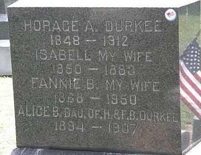 DURKEE, FANNIE B. - Lorain County, Ohio | FANNIE B. DURKEE - Ohio Gravestone Photos