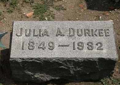 DURKEE, JULIA A. - Lorain County, Ohio | JULIA A. DURKEE - Ohio Gravestone Photos
