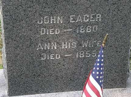 EAGER, JOHN - Lorain County, Ohio | JOHN EAGER - Ohio Gravestone Photos