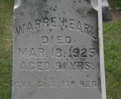 EARL, WARREN - Lorain County, Ohio   WARREN EARL - Ohio Gravestone Photos