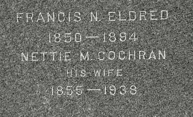 COCHRAN ELDRED, NETTIE M. - Lorain County, Ohio | NETTIE M. COCHRAN ELDRED - Ohio Gravestone Photos