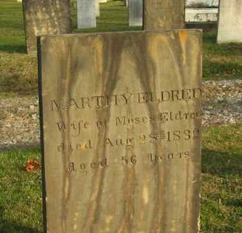 ELDRED, MARTHY - Lorain County, Ohio | MARTHY ELDRED - Ohio Gravestone Photos