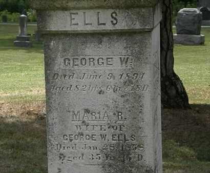 ELLS, GEORGE W. - Lorain County, Ohio | GEORGE W. ELLS - Ohio Gravestone Photos