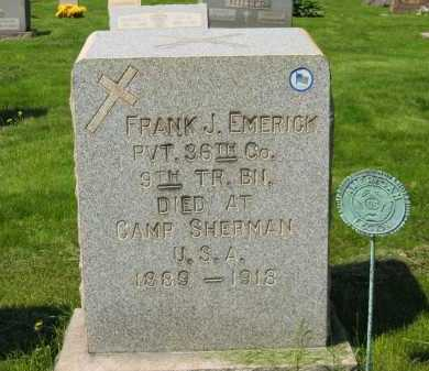 EMERICK, FRANK J. - Lorain County, Ohio | FRANK J. EMERICK - Ohio Gravestone Photos
