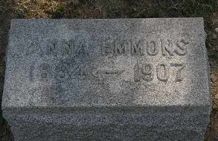 EMMONS, ANNA - Lorain County, Ohio | ANNA EMMONS - Ohio Gravestone Photos