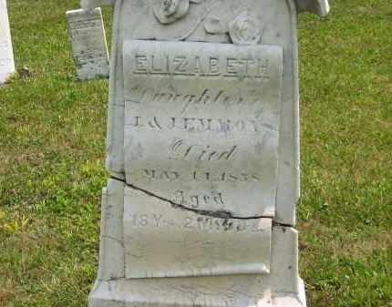 EMMONS, ELIZABETH - Lorain County, Ohio   ELIZABETH EMMONS - Ohio Gravestone Photos
