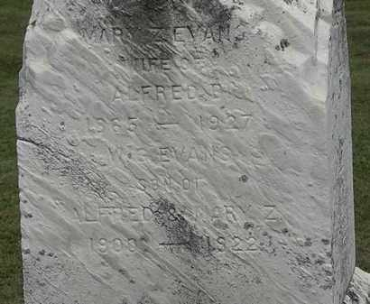 EVANS, MARY Z. - Lorain County, Ohio | MARY Z. EVANS - Ohio Gravestone Photos