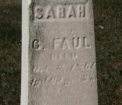 FAUL, SARAH - Lorain County, Ohio | SARAH FAUL - Ohio Gravestone Photos