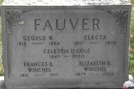 FAUVER, GEORGE W. - Lorain County, Ohio | GEORGE W. FAUVER - Ohio Gravestone Photos