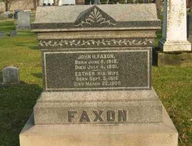 FAXON, ESTHER - Lorain County, Ohio | ESTHER FAXON - Ohio Gravestone Photos