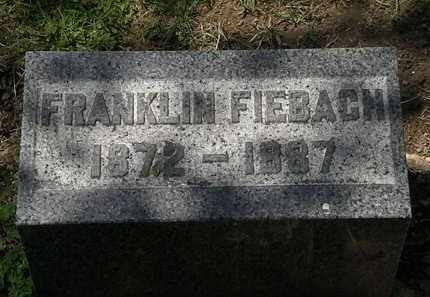 FIEBACH, FRANKLIN - Lorain County, Ohio | FRANKLIN FIEBACH - Ohio Gravestone Photos