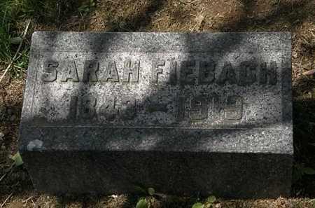 FIEBACH, SARAH - Lorain County, Ohio | SARAH FIEBACH - Ohio Gravestone Photos