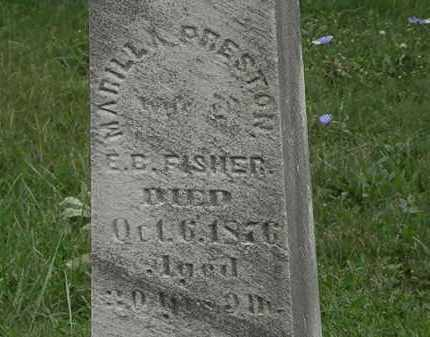 FISHER, E. B. - Lorain County, Ohio | E. B. FISHER - Ohio Gravestone Photos