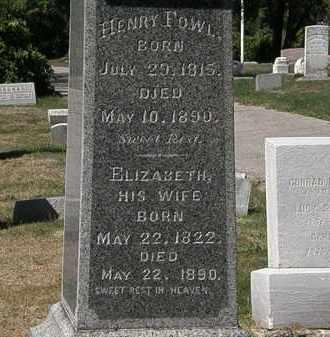 FOWL, HENRY - Lorain County, Ohio | HENRY FOWL - Ohio Gravestone Photos