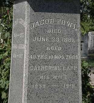 FOWL, JACOB - Lorain County, Ohio | JACOB FOWL - Ohio Gravestone Photos