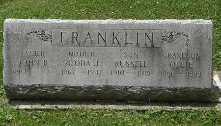 FRANKLIN, OLLIE - Lorain County, Ohio | OLLIE FRANKLIN - Ohio Gravestone Photos