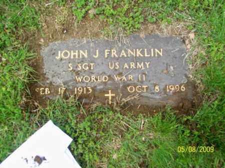 FRANKLIN, JOHN J - Lorain County, Ohio   JOHN J FRANKLIN - Ohio Gravestone Photos