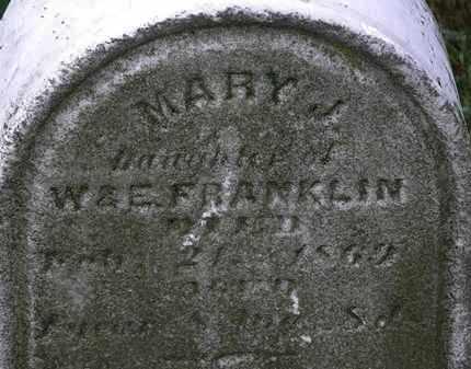FRANKLIN, MARY J. - Lorain County, Ohio | MARY J. FRANKLIN - Ohio Gravestone Photos